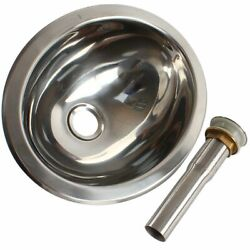 Rv Caravan Hand Wash Basin Sink Tools Oval Stainless Steel Boat Parts Supplies