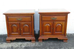 Solid Cherry Pair Of Nightstands Side End Bedside Tables 2270