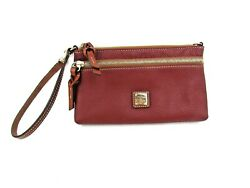 Dooney amp; Bourke Pebble Leather Clutch Wristlet Red Very clean $45.00