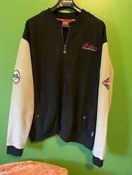 Mens 3xl Indian Scout Motorcycle Jacket, Zip Patches Black/tan Very Nice