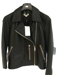 Whistles New W Tags Butter Soft Leather Jacket Uk12