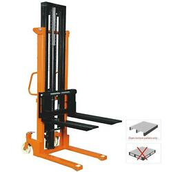 Hand Pallet Stacker Mover Truck Manual Electric 1 2 Ton High Lift