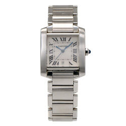 Tank Automatic Silver Dial Men's Stainless Steel Watch 2302