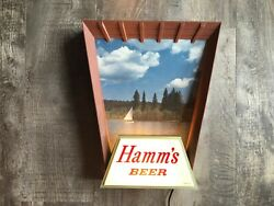 1950s Hamms Lighted Breweriana Vintage Hamms Sailboat Lake Lighted Sign - Works