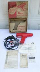Vintage Snap-on Mt-212 Timing Light Works W/ Box Manual Service Receipt