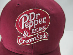 Dr Pepper Cream Soda Hat Embroidered Baseball Cap Soft Drink Fast Ship