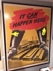 Wwii General Electric Factroy Poster Anti Axis 38x50