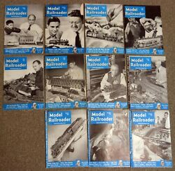 11 Issues Model Railroader 1951 Missing September Articles Layouts Diagrams