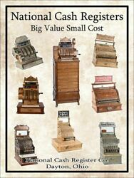National Cash Registers Big Value Small Cost Metal Sign