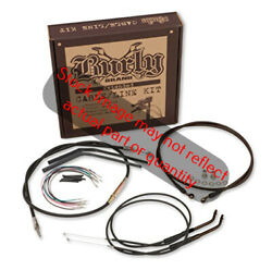 Burly Black Vinyl Handlebar Cable And Brake Line Kit For Clubman Bars W/abs