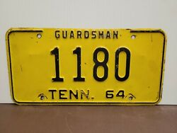 1964 Tennessee Guardsman  License Plate Tag