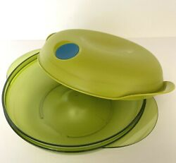 Tupperware Heat N Serve Round Microwave Container 3 Cup Bowl Green 5434 New