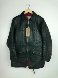 Addict Clothes Auth Ad-18 Sheepskin Rider Motorcycle Jacket Black 38 From Japan