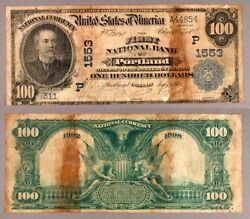 Portland Or 100 1902 Db National Bank Note Ch 1553 First Nb G/vg