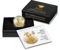2021-w 1/2 American Eagle One-half Ounce Gold Proof Coin 21ecnandnbsptype 2 Confirmed