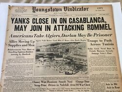 Display Newspaper Wwii 1942 Yanks Close In On Casablanca May Attack On Rommel