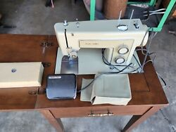Vintage Sears Kenmore Portable Sewing Machine With Table