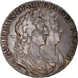 [867386] Coin Great Britain William And Mary 1/2 Crown 1689 London Ef