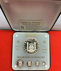 Mexico 1988 Proof Coin Set Pillar Dollar Mintmasters Die Pattern .999 Silver