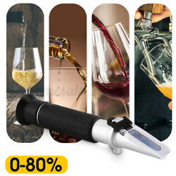 Refractometer Alcohol Alcoholometer 080 Atc Handheld Tool Wine Beer Test Tool