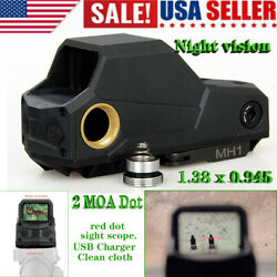 Tactical 2 Moa Red Dot Reflex Sight Motion Activation Black Holographic Scope Us
