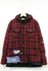 Greg Lauren Authentic Sherpa Lined Baja Studio Hoodie Red Size 2 Used From Japan