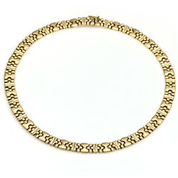 Women's Italian Made Statement Link Chain Necklace In 14k Yellow Gold