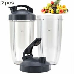 32oz Tall Cupsandflip Lids Ring Replacement Set For Nutribullet 600wand900w Blender