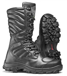 Combat Boots Mens Hunting Tactical Motorcycle Black Leather Boots Lace Up Strong
