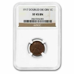 1917 Doubled Die Obverse Lincoln Cent Xf-45 Ngc Brown - Sku235785