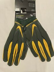 Nike Superbad Green Bay Packers Football Gloves Men's Size Xl Nwt