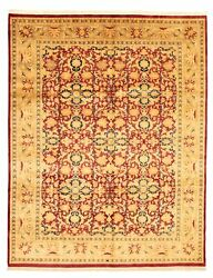 Vintage Hand-knotted Carpet 8'0 X 10'0 Traditional Oriental Wool Area Rug