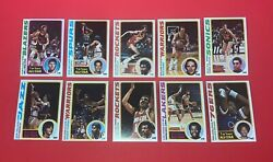 1978-79 And 1979-80 Topps Basketball Complete Sets 2 Sets Of 132 Cards See Descrip