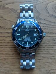 Omega Seamaster Blue Menand039s Watch 300m Automatic Assembled