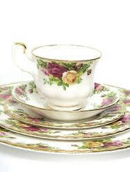 Royal Albert Old Country Roses 5 Pc Place Setting Dinner Salad Bread Plate Cands