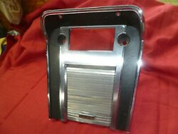 1967 Mustang Center Console Radio Bezel Plate W Nice Ford Door Good Condition 67