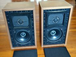 Pair Chartwell Ls3/5a Bbc Monitor Speakers Early 15-ohm Original Rogers 1982