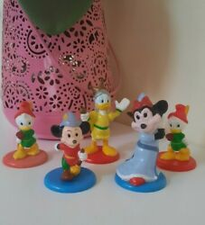Vintage Disney Mickey Mouse Minnie Donald Duck Toys Cake Toppers Collectables