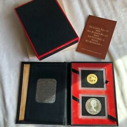 1975 Cayman Islands 100 Gold And 50 Silver Six-queens Coins Royal Canadian