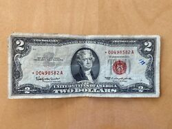 1963 Series Rare 2 Red Seal Federal Reserve Bill