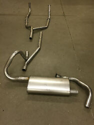 1967 Chevy Camaro 8 Cylinder Single Exhaust System, Aluminized, 327 And 350 Engine