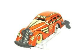 Vintage 40's Marx Tin Litho Wind Up Tricky Taxi 4 1/2 Works Perfectly