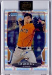2021 Topps Archives Signatures Tim Lincecum Bowman Chrome Atomic 1/1 Auto Wow