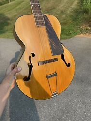 1935 Recording King Wards Gibson X Braced Solid Archtop Guitar Super Rare