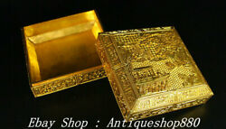7 Old Chinese Qing Dynasty Qianlong Marked Bronze 24 K Gold Boy Jewelry Box