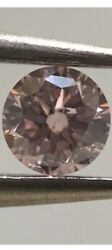 Loose Natural Color And Clarity Diamond Round 1.01 Ct Vs2 Fancy Pink Ex Ex Ex