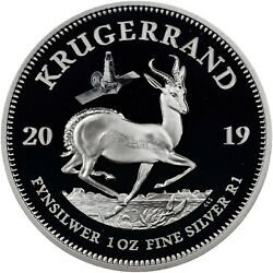 2019 South Africa Silver Krugerrand Two Coin Set With Ranger Spacecraft Privy