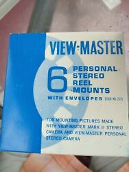 6 View-master Empty Personal Stereo Reel Mounts And Envelopes New-old-stock
