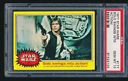 1977 Star Wars 'solo Swings Into Action' 177 Psa 10 - Tough Low Pop 1/9