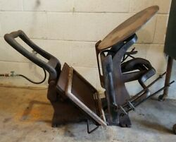 Antique Kelseys 9 X 13 Excelsior Cast Iron Printing Press. W/printing Plates.